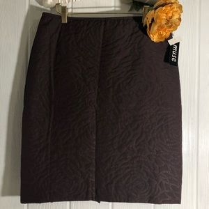 Muse Quilt Look Pencil Skirt 8 Purple Plum New NWT